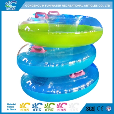 Solid Combine Clear Color Single Tube with Bottom for Water Park Slide
