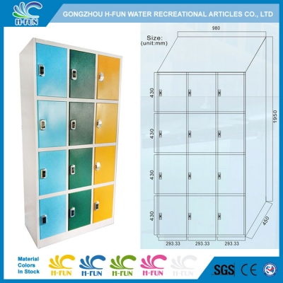 Assembly RFID Lockers with Managing System for Water Park
