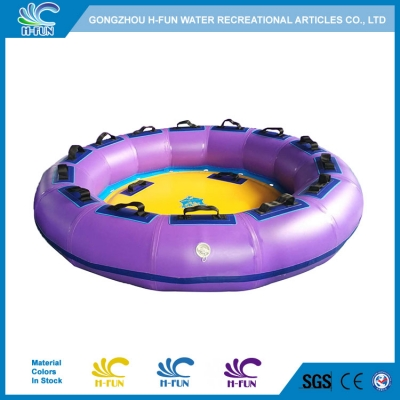 4 person water slide boat raft with strap handles