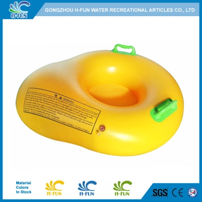 Water Park Inflatable Pool Floats Pear-shaped Single Slide Tube with Bottom