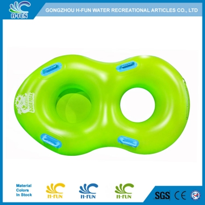Water park double tube with front bottom for kids