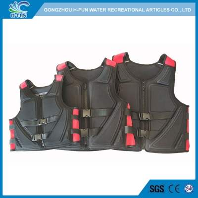 2019 New Design PEF with Neoprene water park life jacket