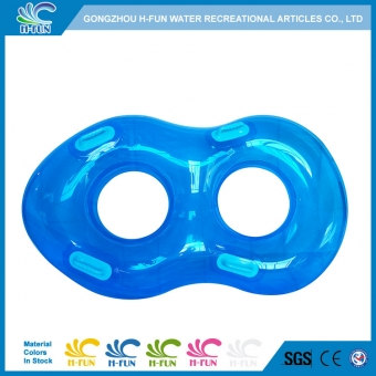 Transparent water park double tube