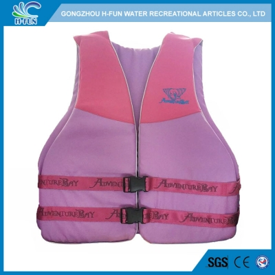Denim fabric cover NBR foam life jackets for water park